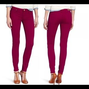 Blank NYC Red Super Skinny Jeans Sz 28 6